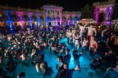 Our most popular bath in Budapest, Szechenyi Baths and Pool is famous for its summer night bath parties (Szechenyi Bath Party in June, July, August, September), while in spring, fall and winter time, you can check out the Lukacs Bath Magic Bath Parties.