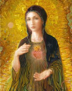 Immaculate Heart of Mary, contemporary Catholic art by family art studio and apostolate inspired by Pope John Paul II, absolutely gorgeous! Description from pinterest.com. I searched for this on bing.com/images