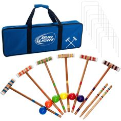 24 Piece Bud Light 6 player Croquet Complete Game Set