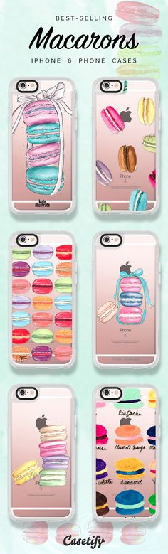Top 6 Macaron iPhone 6 protective phone case designs | Click through to see more iPhone phone case idea >>> https://www.casetify.com/artworks/A7ufwLImm2 | @casetify