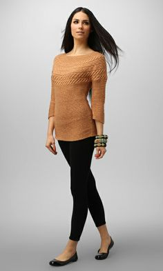 Cute mixed cable pullover from NIC+ZOE. #polished #style #zappos