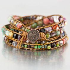 Free Tutorial DIY Chan Luu Style Bohemian Wrap Bracelet I Visit www.sewinlove.com.au/category/fashion/accessories-fashion/ For More DIY Ideas.