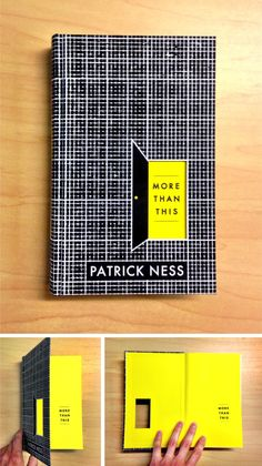 Super excited to share my design for MORE THAN THIS by Patrick Ness featuring a diecut door you can throw things through Coming in September