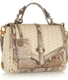 2169748666e Tory Burch - 797 snake-effect leather and raffia tote