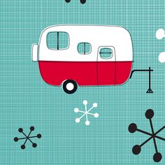 Julie's Campers fabric by juliesfabrics on Spoonflower - custom fabric