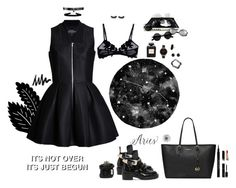"""∫ Badass in a Dress ∫"" by flxridoskxilos ❤ liked on Polyvore featuring ESPRIT, Simons, La Perla, Fallon, Balenciaga, Urban Renewal, Chanel, MICHAEL Michael Kors, Olivia Burton and Irene Neuwirth"