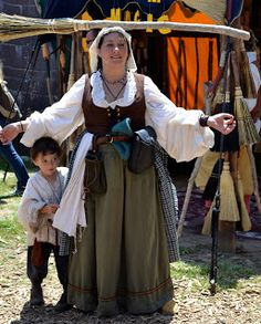 Costumes for each of the classes, fabric dos and don'ts, great guide to costuming Ren Faire