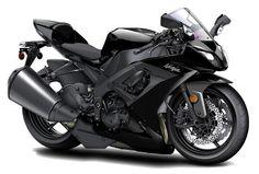 Kawasaki Ninja Black Motorcycle. Dark Angel style.