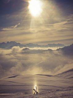 Caught in snow crystal matrix. Grindelwald, Switzerland