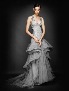 grey versace dress.