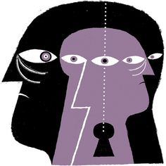 Schizophrenia (for The Times) by Joe McLaren Schizophrenia Art, Drawing Sketches, Drawings, Rainbow Rowell, Inspirations Magazine, You Draw, Purple Haze, Eye Art, Dark Art