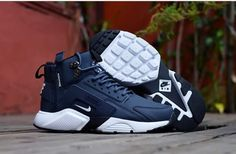 Cheap Nike Air Huarache X Acronym City MID Leather Men shoes  navy Only  Price  60 2c696ca89