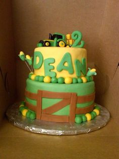 John Deere Birthday Cake www.bearheartbakingco.wordpress.com