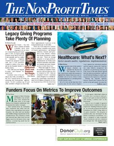 The August 1, 2012 edition of The NonProfit Times.