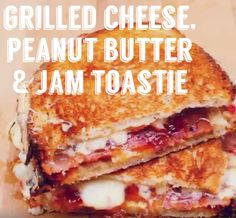 Homemade tries amazing grilled cheese, peanut butter and jam toasties