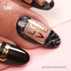 awesome nail art and design with words love #dubaifashion #dubai #nails