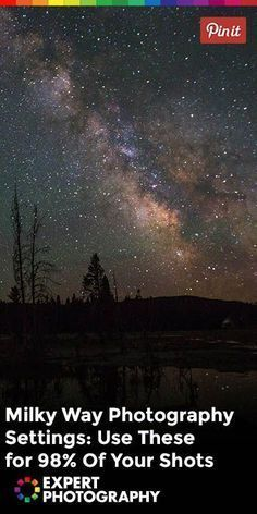 Milky Way Photography Settings - Nikon - Trending Nikon for sales. - Milky Way photography settings are totally different from the ones you use in almost any other kind of photography. Learn how in this article. Milky Way Photography, Dslr Photography Tips, Star Photography, Landscape Photography Tips, Photography Lessons, Night Photography, Photography Tutorials, Digital Photography, Photography Backdrops