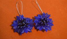 Master class for Blue Flower Earrings ~ Seed Bead Tutorials
