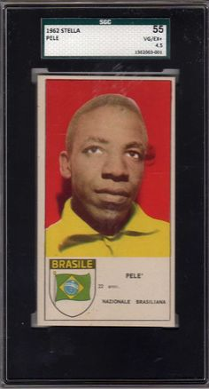 1962 Stella Pele SGC 55  This Italian issue is one of the earlier cards produces in the grand career of Pele.