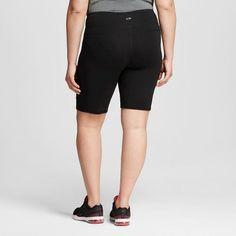 Women's Plus-Size Freedom Bermuda - Black Heather 1X - C9 Champion, Dark Grey Heather