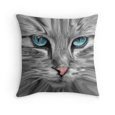 #Cute #Cat Eyes Face Water Color Oil #Painting #Art #pet #animal