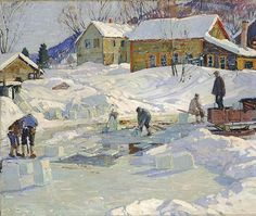Aldro Thompson Hibbard, Ice Pond