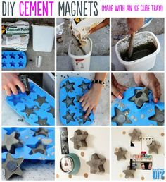 Cement Magnets Tutorial | 22 Seriously Cool Cement Projects You Can Make At Home: