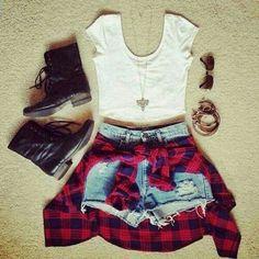Flannel to wear around waist