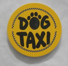 """Dog Taxi"" AbsorbaStone Auto Coaster"