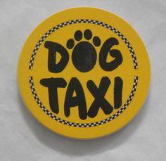 """Dog Taxi"" AbsorbaStone Auto Coaster"