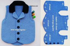 Erkek bebekler için yada erkek çocuklar için yapılan ve çok yakışan ata y. We wanted to remember with the construction of the black-collar ankle vest model, which is suitable for baby boys or boys and suits well. Quite Kleidung Baby Knitting Patterns, Knitting For Kids, Crochet For Kids, Knitting Designs, Baby Patterns, Baby Pullover, Baby Cardigan, Crochet Baby Clothes Boy, Crochet Poncho