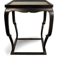 Noir Bellini Side Table - Hand Rubbed Black ($825) ❤ liked on Polyvore featuring home, furniture, tables, accent tables, noir table, noir side table, mahogany furniture, mahogany side table and mahogany table