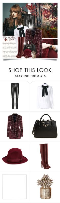 """""""Untitled #694"""" by beautifulplace ❤ liked on Polyvore featuring Dolce&Gabbana, Blazé Milano, Charlotte Olympia, Borsalino, Victoria Beckham, Menu and Nine West"""