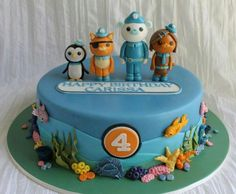 wedding cake picture images a boy s octonauts inspired 3rd birthday 23426
