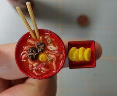 미니어쳐 라면&단무지 만들기 Sweetmini handmade miniature 얼마전 라면을 만들어봤었더랬지요~ 요즘...