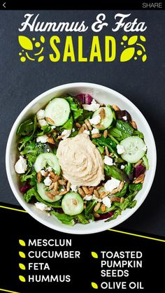 Hummus and feta salad
