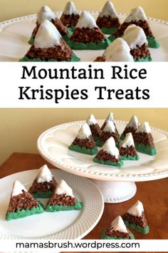 Mountain Rice Krispies Treats – Cozy Mountain Lodge Theme Retreat Snack Mountain Rice Krispies Treats – Cozy Mountain Lodge Theme Retreat Snack – mama's brush Rice Krispies, Rice Krispie Treats, The Good Dinosaur, Baby Shower Themes, Baby Boy Shower, Woodlands Baby Shower Theme, Shower Ideas, Comida Para Baby Shower, Lumberjack Birthday Party
