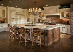 Custom Kitchen Design by Paige Bailey and Laura Richie Smith Home Decor Kitchen, Country Kitchen, New Kitchen, Home Kitchens, Custom Kitchens, Country Farmhouse, Kitchen Stuff, Farmhouse Decor, Kitchen Ideas