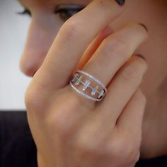 """5 Baguettes"" Diamond Multi Band Ring - Plukka - Shop Fine Jewelry Online"