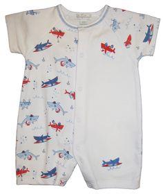 Kissy Kissy Baby Boys Sea Shenanigans Print Short Pajamas