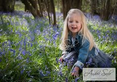 Izzy, in the Bluebells » Andrea Sarlo's Photography Blog
