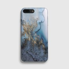 Blue Gold Marble iPhone 7 Case