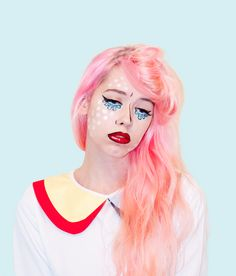 MAKEUP: Roy Lichtenstein's Crying Girl | Mermaidens - Musings of a Modern Mermaid #halloween #makeup