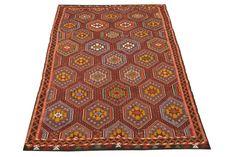 Anatolian Kilim Rug 96 x 60 Feet Vigorous Kilim by kilimwarehouse