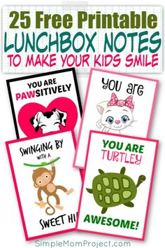 Give your kindergartners, preschoolers, little girls and boys love and encouragement with these cute and FREE printable school lunchbox notes! Lunchbox Notes For Kids, Lunch Box Notes, Diy Crafts For Girls, Fun Diy Crafts, Printable Crafts, Free Printables, Starting School, Thing 1, Happy Mom