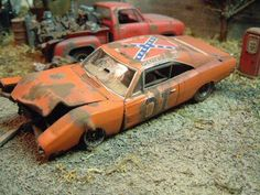 General Lee, wrecked Dukes of Hazzard car