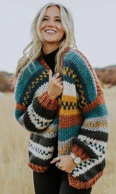 Boho fashion ideas for hippie women, autumn women sweater Fall Fashion Outfits, Trendy Outfits, Fashion Clothes, Winter Fashion, Casual Clothes, Dress Casual, Women's Clothes, Boho Fashion, Fashion Ideas