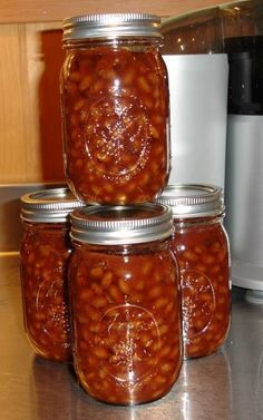 I just made these baked beans and they are awesome! A very easy canning project for pressure canners! You done have to bake the beans and then can them, so it's my official favorite recipe, AND it's a dead ringer for Bush's BBQ Baked Beans.