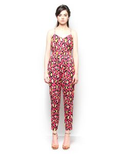 Strappy Printed Cotton Jumpsuit. Visit for more styles ➤ www.boutique.in/