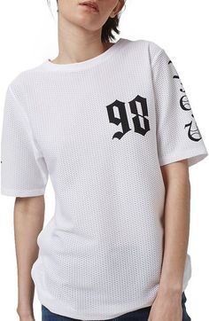 Topshop '98 Oversize Airtex Tee available at #Nordstrom
